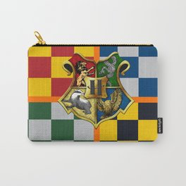 Hogwarts Crest Stripes Carry-All Pouch