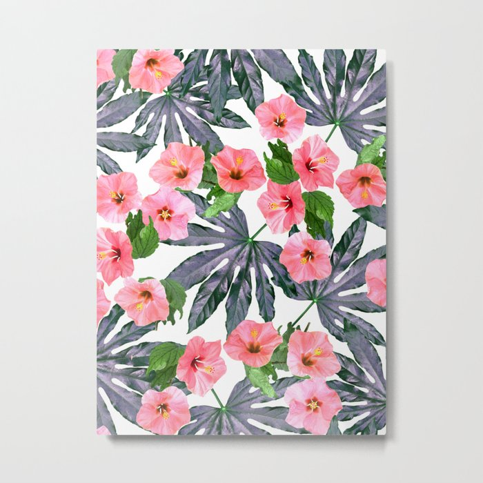Tropical Blossom in Pink Metal Print