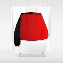 Cartoon Style Fez Shower Curtain