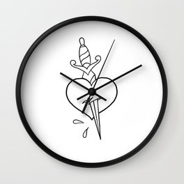 Heart and Dagger Wall Clock