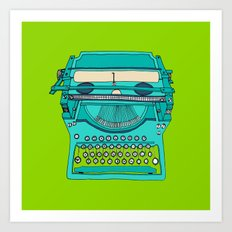 Typewriter number four Art Print
