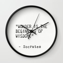 Socrates 6 Wall Clock