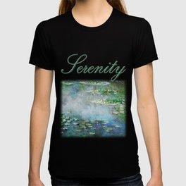 1906 Waterlily on Canvas.  Claude Monet . Vintage fine art. T-shirt