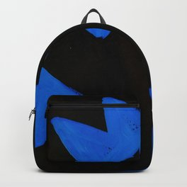 The Crown of Basquiat, Abstract, Electric Blue Backpack