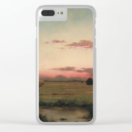Martin Johnson Heade - The Marshes At Rhode Island Clear iPhone Case