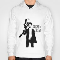 darren criss Hoodies featuring Darren Criss with guitar! by byebyesally