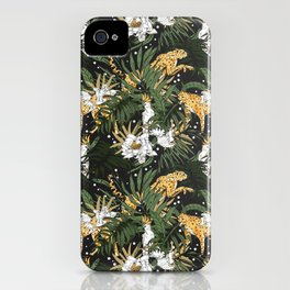 Animals in the glamorous nocturnal jungle iPhone Case