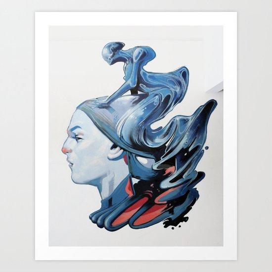 Sea goddess Art Print