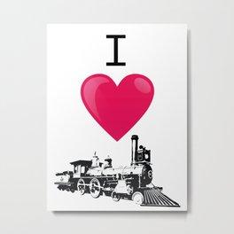 I like trains model railway Metal Print