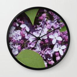 Lilacs 2 Wall Clock