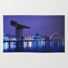 The River Clyde At Night Rug