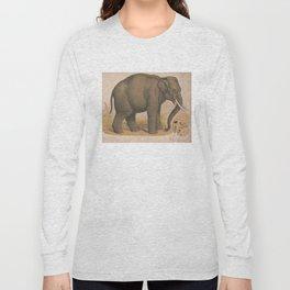 Vintage Elephant Illustration (1874) Long Sleeve T-shirt