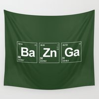 breaking Wall Tapestries featuring Breaking Bazinga by dutyfreak