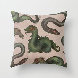 Sea Serpents Throw Pillow