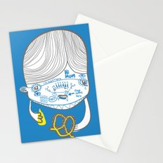 the breakfast pretzel realization Stationery Cards