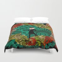 devil Duvet Covers featuring Party Devil by ADIDA FALLEN ANGEL