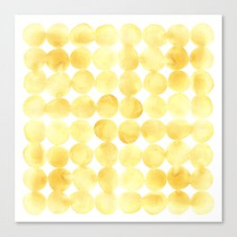 Imperfect Geometry Yellow Circles Canvas Print