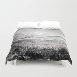 The red sounds and poems, Chapter II Duvet Cover
