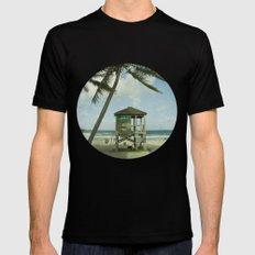 Beach Mens Fitted Tee Black MEDIUM