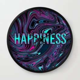 "ABSTRACT LIQUIDS HAPPINESS ""51"" Wall Clock"
