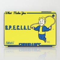 fallout iPad Cases featuring Endurance S.P.E.C.I.A.L. Fallout 4 by sgrunfo