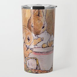 Peter Rabbit with his parents Travel Mug