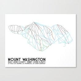 Mount Washington Alpine Resort, BC, Canada - Minimalist Trail Art Canvas Print