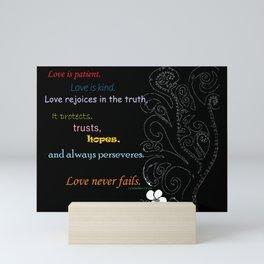 Love Never Fails Mini Art Print