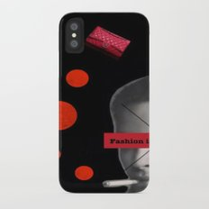 Fashion is not real life iPhone X Slim Case