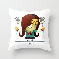 virgo Throw Pillows featuring VIRGO by Angelo Cerantola