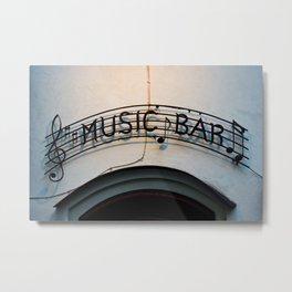 Music Bar Metal Print