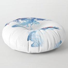 The last apple tree Floor Pillow