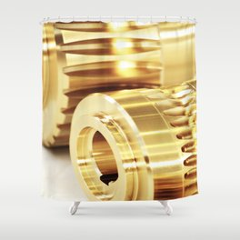 Wormwheels close up view Shower Curtain