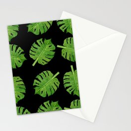 Dancing Monstera Leaves II Stationery Cards
