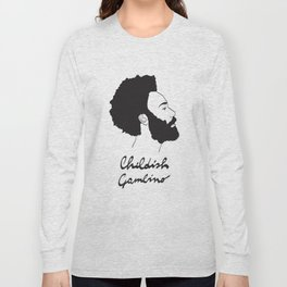 Childish Gambino - Minimalist profile portrait Long Sleeve T-shirt