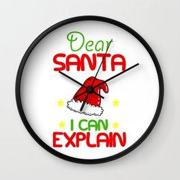 Santa Claus funny saying Wall Clock