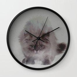 Cat In Fog Wall Clock