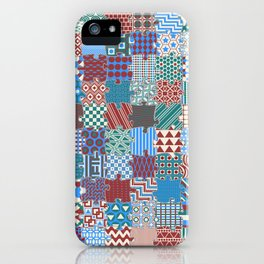 Pattern Patchwork Puzzle iPhone Case