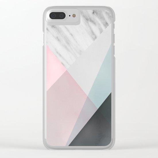 Scandinavian Mood Geometry Clear iPhone Case