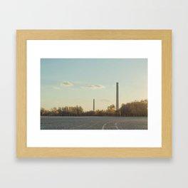 Smoke Stacks Framed Art Print