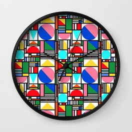 Bauhaus Village Wall Clock