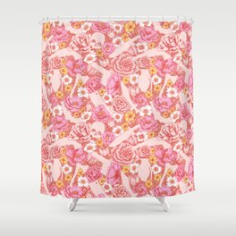 Weapon Floral Shower Curtain