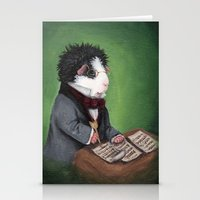 guinea pig Stationery Cards featuring Franz Schubert the Guinea Pig by When Guinea Pigs Fly