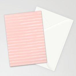 Simple Rose Pink Stripes Design Stationery Cards