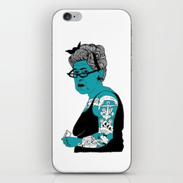 Tattoo Lady colour by Emilythepemily iPhone Skin