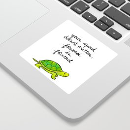 """Forward is Forward"" Turtle Sticker"