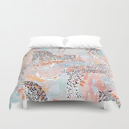 Colorful Wild Cats Duvet Cover