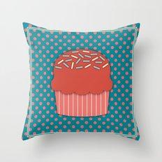 Cupcake 3 Throw Pillow