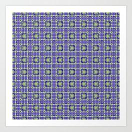 Digital Geometric Quilt Design Art Print