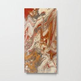 Pour Art Molten Lava Metal Print